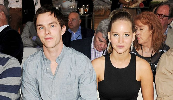 Nicholas Hoult and Jennifer Lawrence