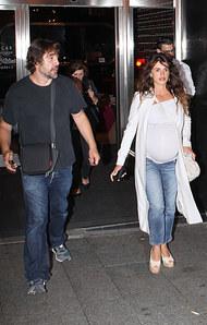 Penélope Cruz et son mari Javier Bardem samedi dernier à Madrid