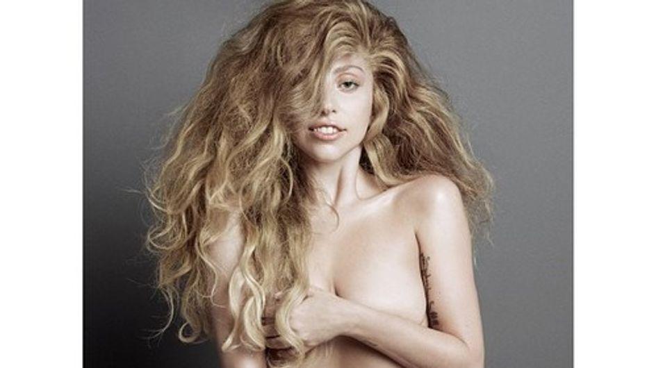 Lady Gaga, entièrement nue en couverture de V magazine