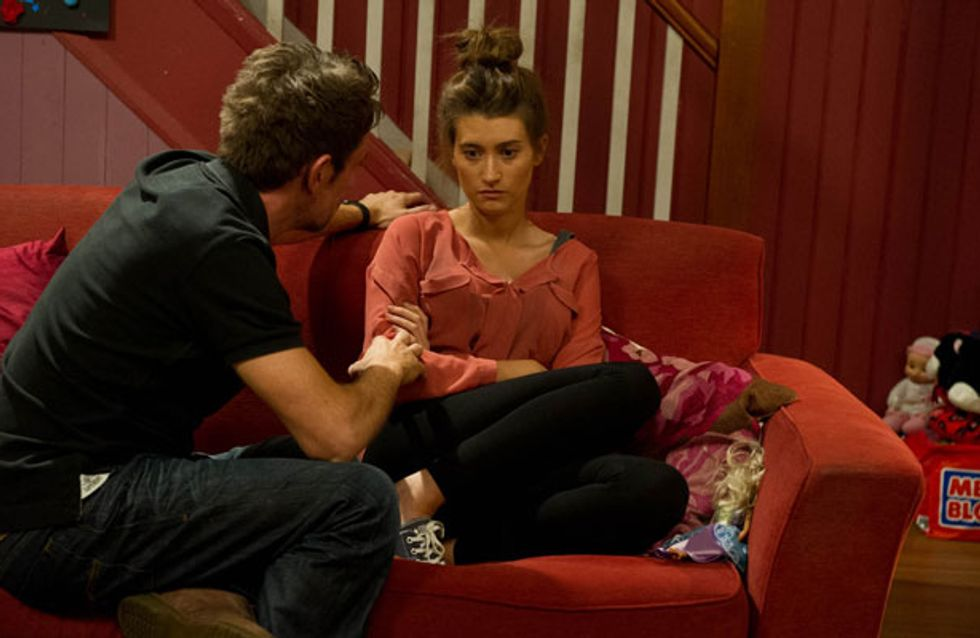 Emmerdale 30/07 - Charity and Cain walk in on Cameron and Debbie
