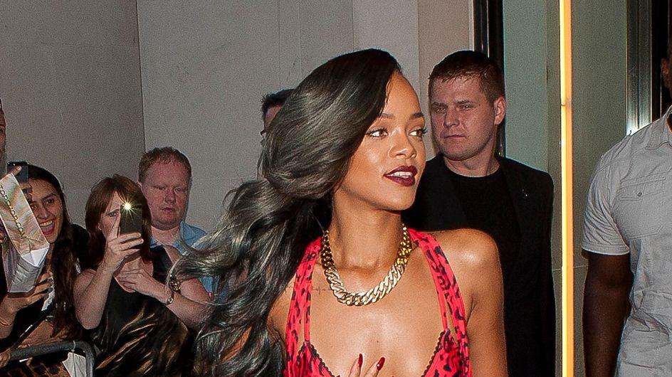 Rihanna : Une tigresse peu élégante à Londres (Photos)