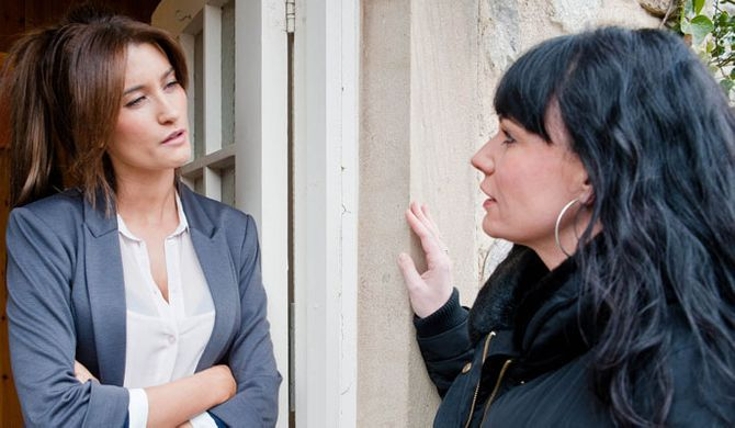 Is Debbie about to tell Chas the truth?