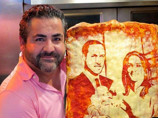 Pizza del nacimiento del hijo de los Duques de Cambridge