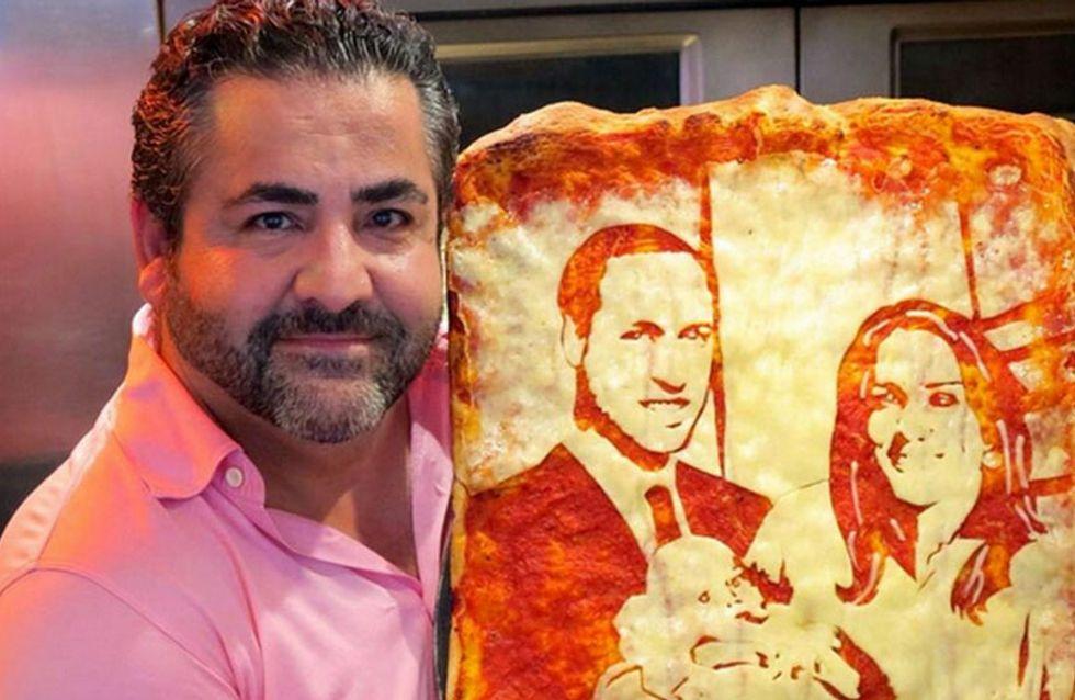 Kate y Guillermo celebraron el nacimiento de su hijo con una pizza