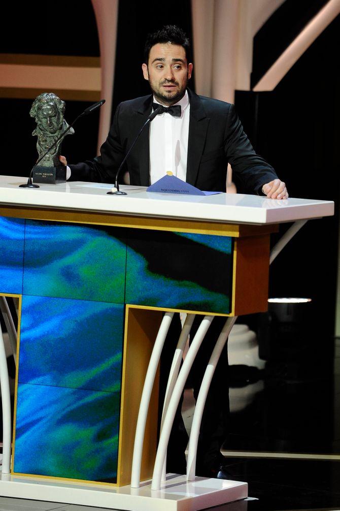 Juan Antonio Bayona en la 27ª edición de los premios Goya