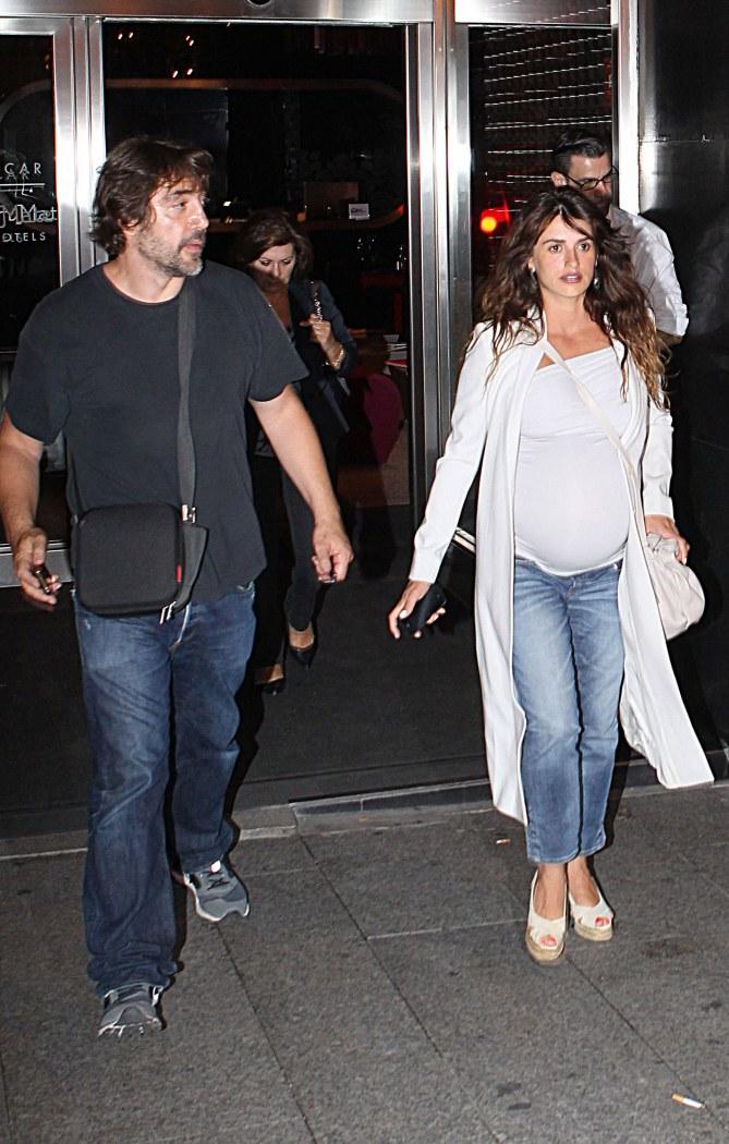 Penélope Cruz très enceinte samedi dernier