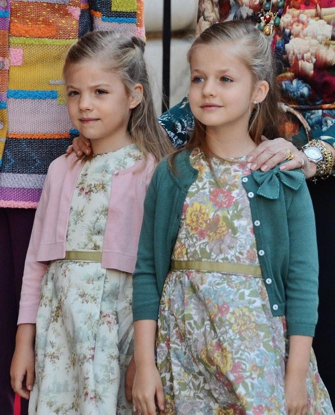 Les princesses Sofia et Leonor d'Espagne