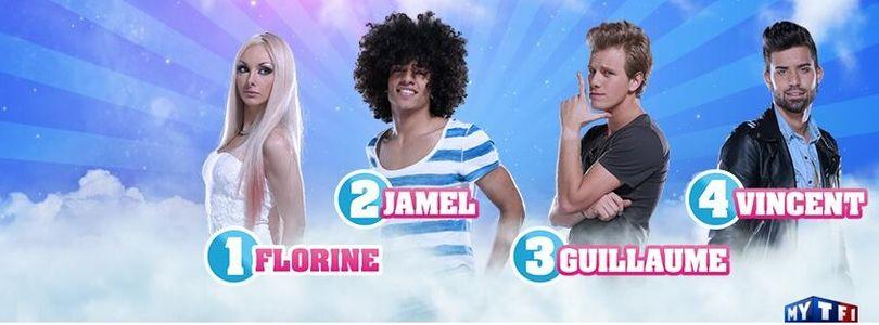 Florine nominée avec Jamel, Guillaume et Vincent