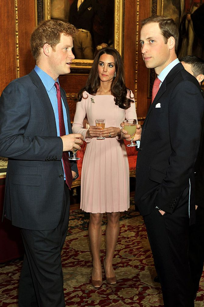 Prince William, Prince Harry and Kate Middleton