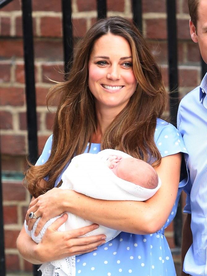 Kate Middleton con il figlio