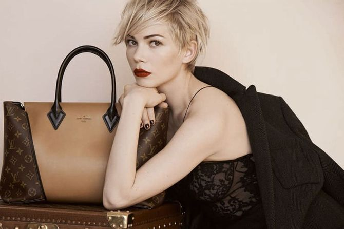 Michelle Williams stars as the new face of Louis Vuitton