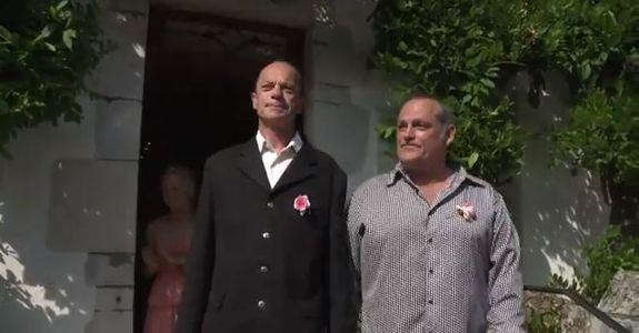 Jean-Michel et Guy lors de leur mariage