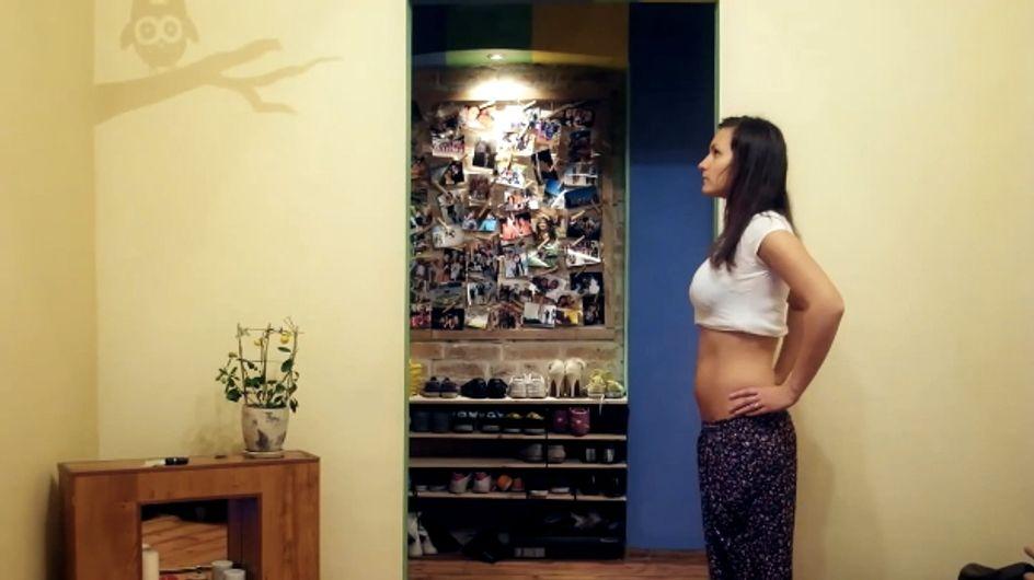 Une grossesse en quelques secondes (Vidéo)