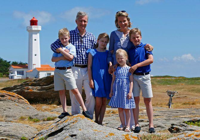 La familia real belga