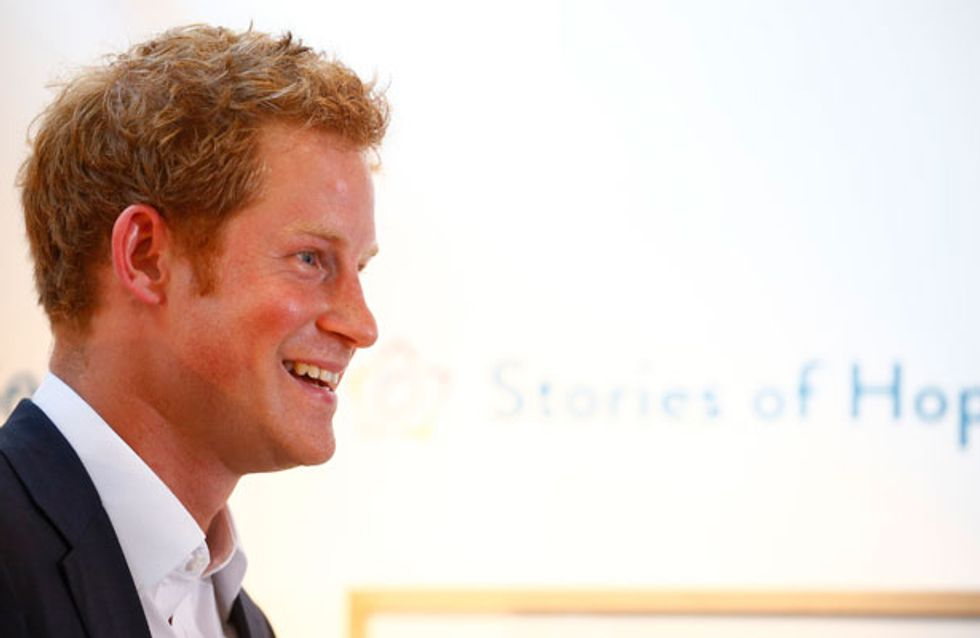 "Party boy Prince Harry promises he will make sure baby George ""has fun"""