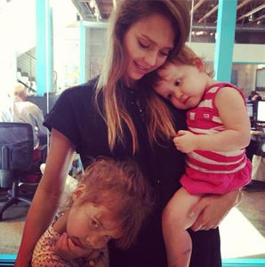 Jessica Alba et ses filles Honor et Haven