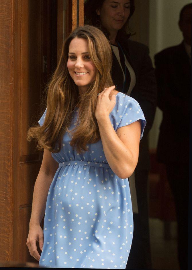 Kate Middleton à sa sortie de l'^hopital