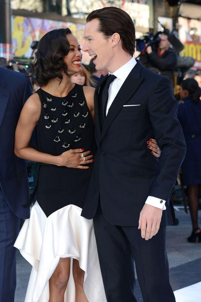 Benedict Cumberbatch and Zoe Saldana