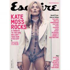 Kate Moss : Sexy en body transparent pour la couverture d'Esquire