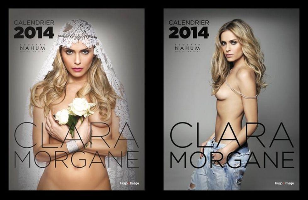 Clara Morgane : Les premières photos sexy de son calendrier 2014