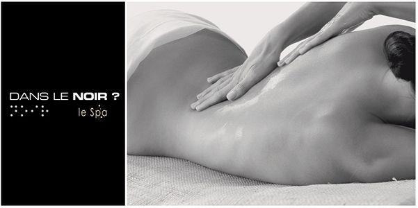 Massage dans le noir