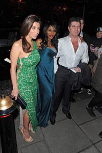 Simon Cowell with Mezhgan Hussainy and Sinitta