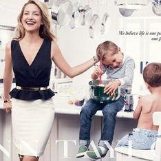 Kate Hudson : Elle pose avec ses neveux pour Ann Taylor (Photos)