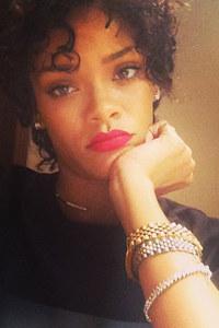 Rihanna's never seen before hair: Her natural locks