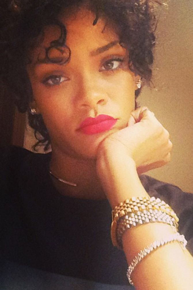 Rihanna's never seen before hair: Her natural locks