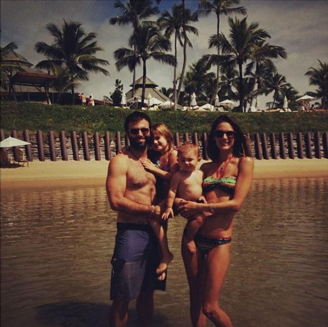 Alessandra Ambrosio et sa famille