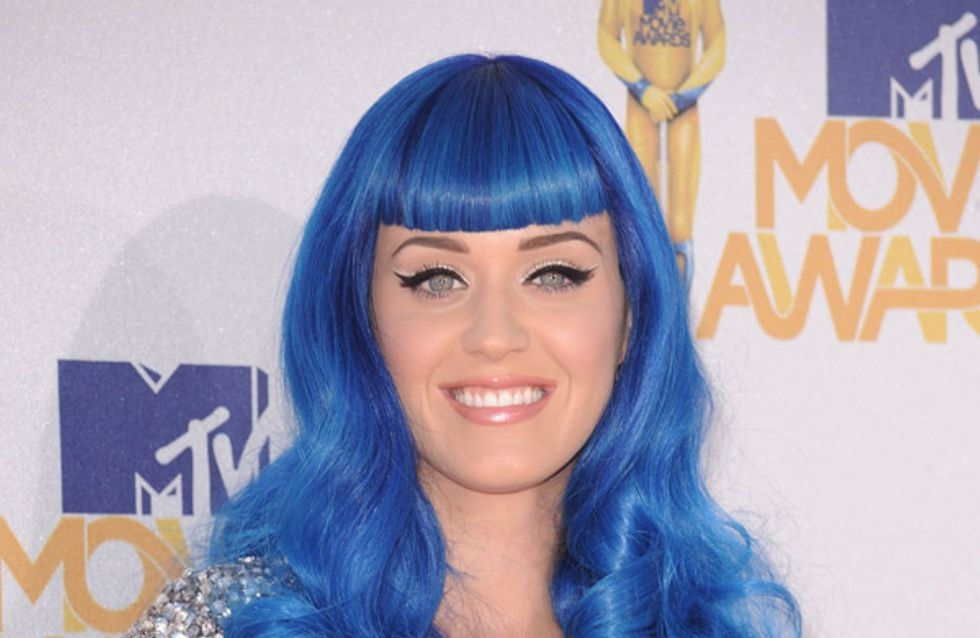 Katy Perry says bye bye to her blue hair for good!