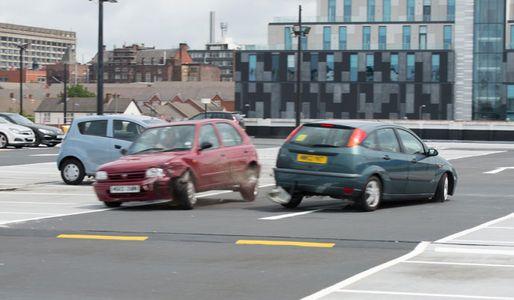 Nancy's car ends up in a crash