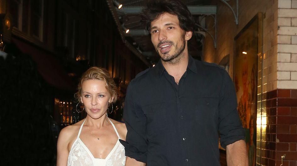Andrés Velencoso y Kylie Minogue desmienten rumores de crisis paseando por Londres