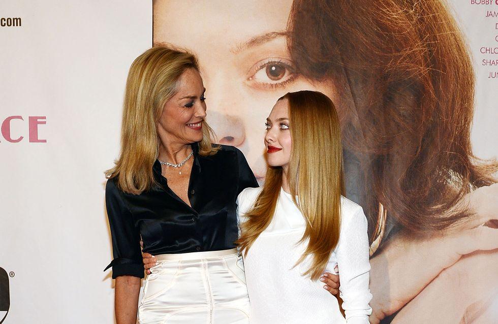 Amanda Seyfried et Sharon Stone très complices pour la promo de Lovelace