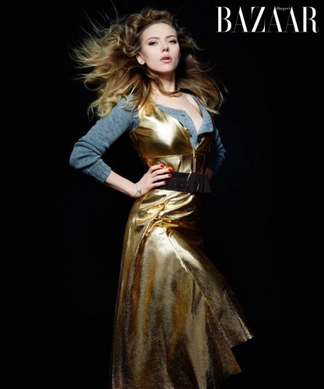 Scarlett Johansson pour Harper's Bazaar