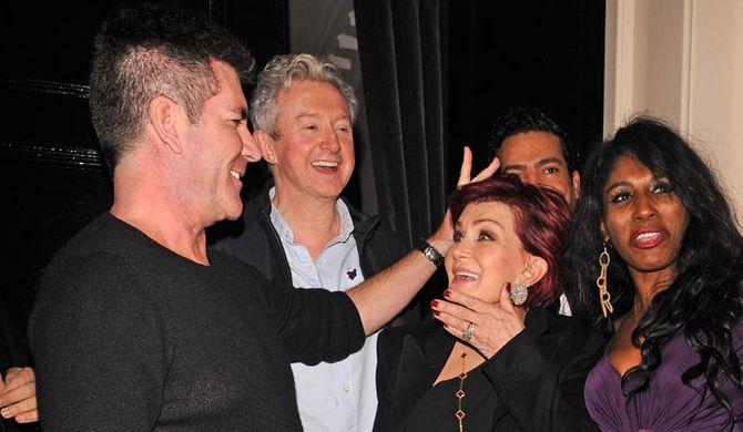 Simon Cowell, Louis Walsh, Sharon Osbourne and Sinitta