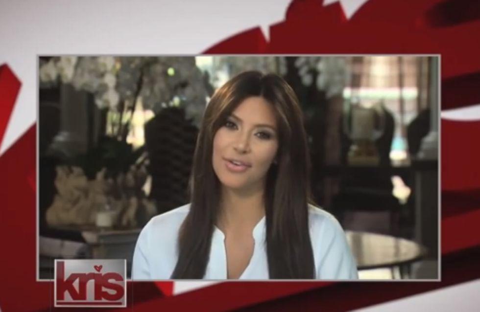 Kim Kardashian : Premier passage télé depuis bébé (vidéo)