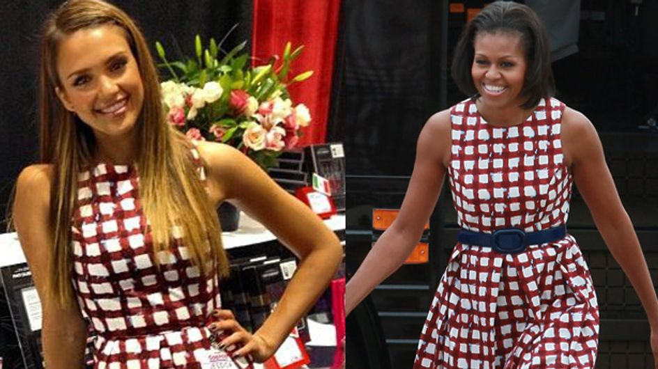 Michelle Obama vs Jessica Alba : Qui porte le mieux la robe Asos ? (Photos)