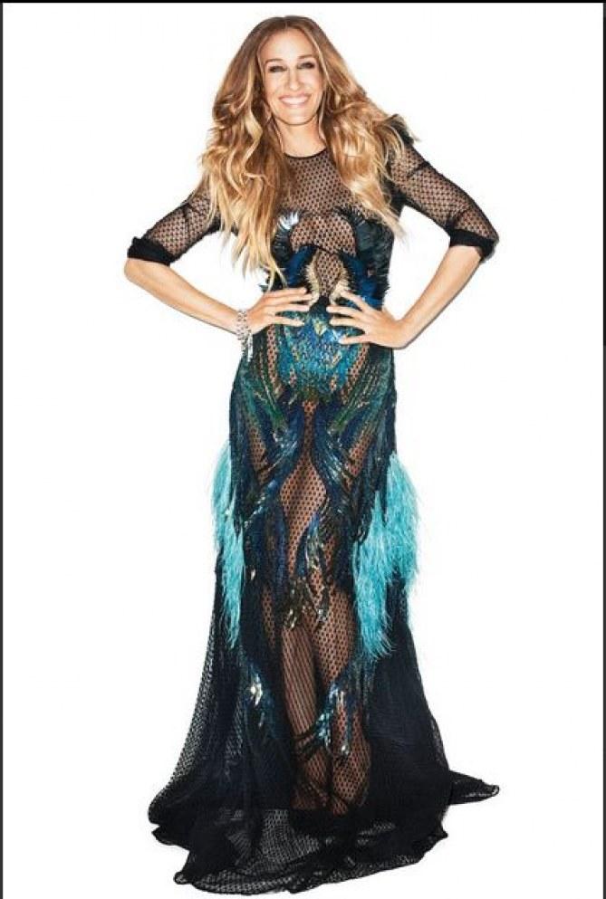 Sarah Jessica Parker nue sous une robe transparente