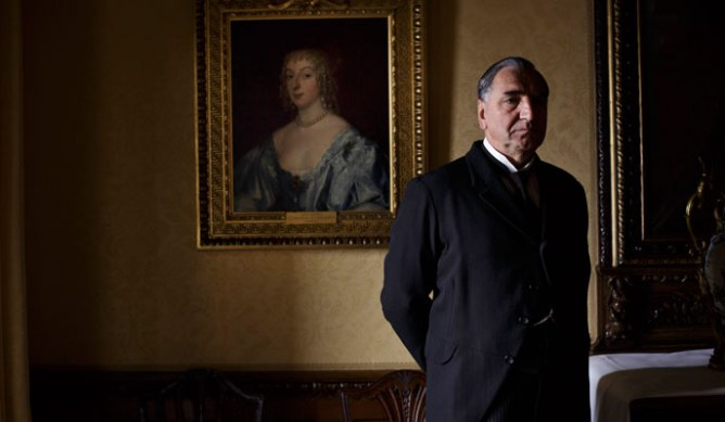 Jim Carter as Mr Carson in series 4