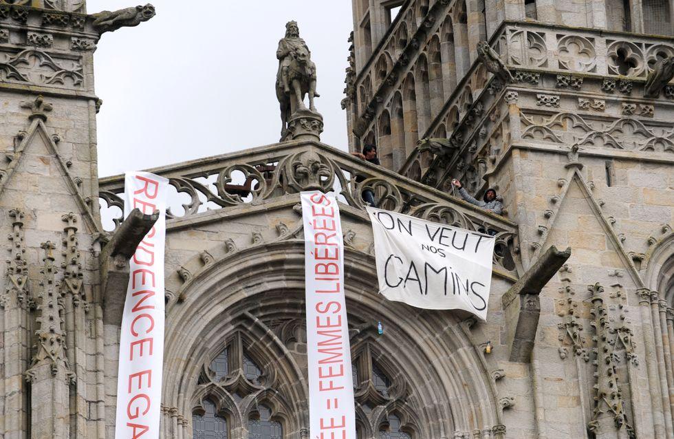 Garde d'enfants : Sept parents s'insurgent du haut de la cathédrale de Quimper