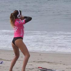 Buzz : Découvrez l'échauffement très sexy de la surfeuse Anastasia Ashley (Video)