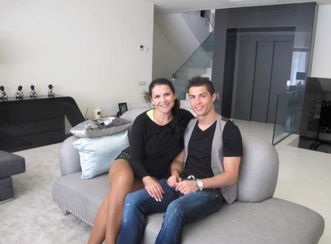 Katia Aveiro y su hermano, Cristiano Ronaldo