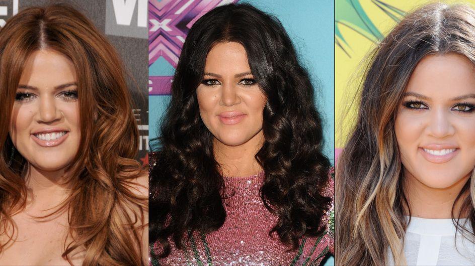 Khloé Kardashian : Blonde, brune, rousse, découvrez son évolution capillaire (Photos)