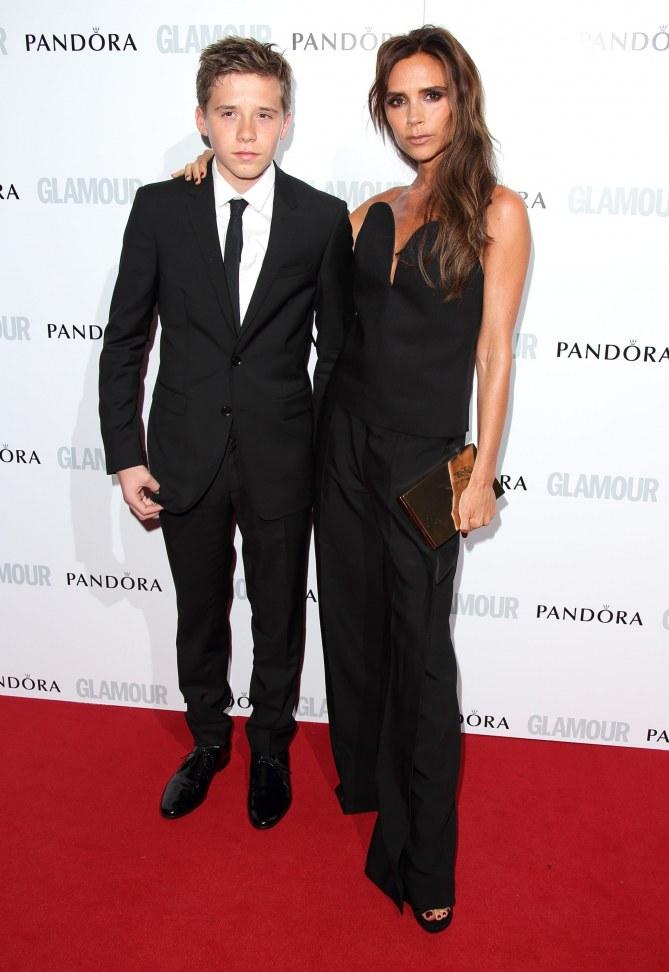 Victoria Beckham mit Sohn Brooklyn