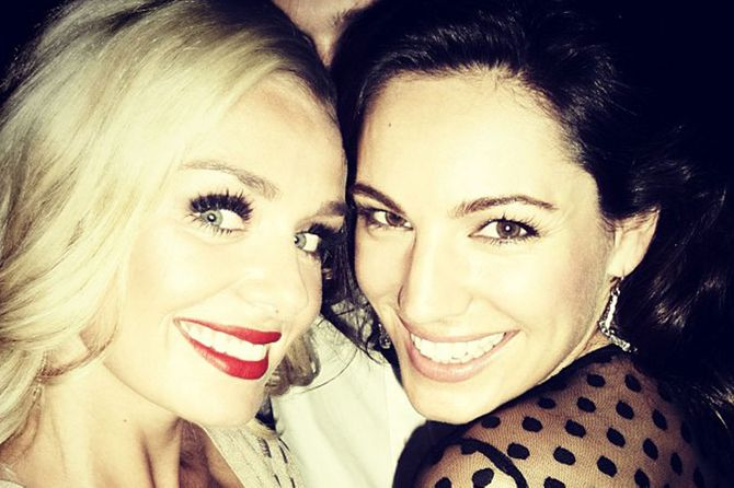 Kelly Brook and Katherine Jenkins