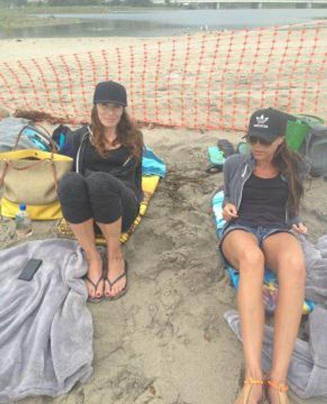 Victoria Beckham et Tana Ramsay à Malibu