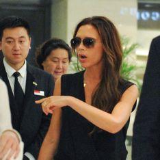 Victoria Beckham acude al colegio de su hijo en helicóptero