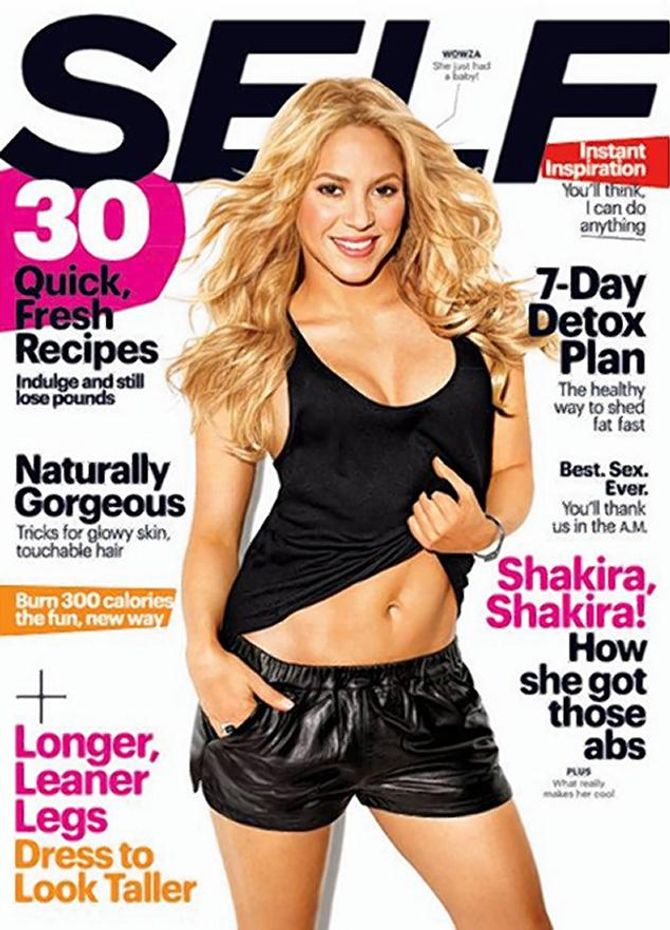 Shakira en couverture de SELF