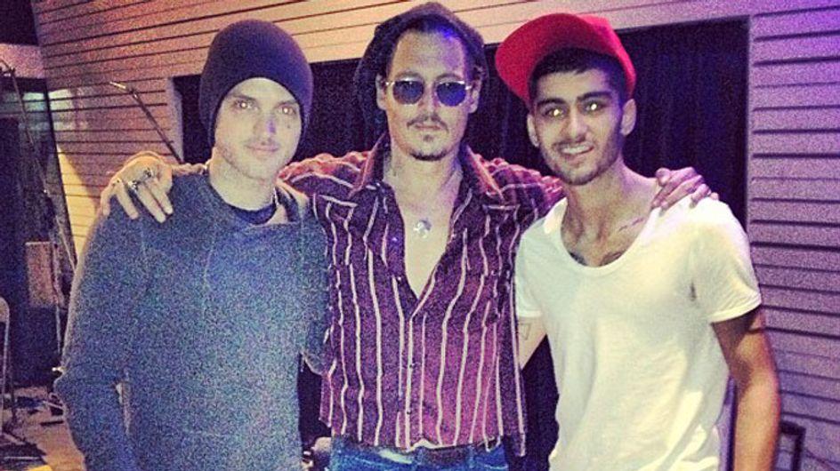 Zayn Malik hits recording studio with Johnny Depp after getting new pirate tattoo